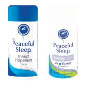 Peaceful Sleep Insect Repellent Stick Twin-pack Original & Family